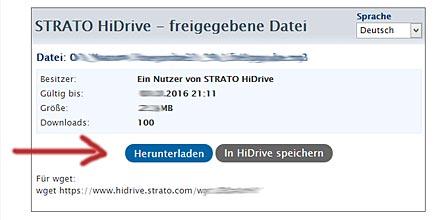 HiDrive-Oberflaeche