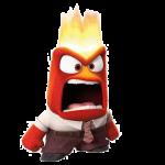 Anger/Wut = Brandzeichen, Feuer, Kraft, Grenzen setzen. Pictured (L-R): Joy. ©2015 Disney•Pixar. All Rights Reserved.